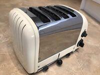 Dualit Newgen 4 Slot/Slice Toaster Vario Cream & Stainless Used