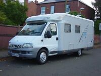 HYMER T CLASS 664 GT LOW PROFILE FIXED REAR BED / GARAGE /MOTOR HOME