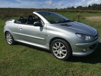 Peugeot 206cc 2004 quicksilver new mot