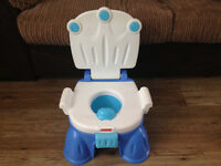 Fisher Price Royal Blue Potty & Stepstool