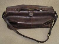 Hidesign leather holdall in crocodile print pattern