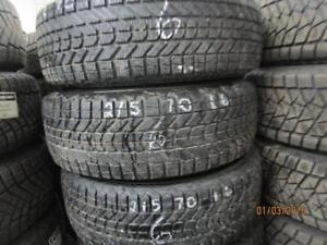 235/70R16 HURCULES WINTER TIRES USED ON RIMS FOR ESCAPE AND SANTE FE