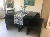 4 seater dining table and chairs from next