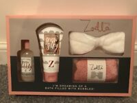 *NEW* zoella Bath set and 2 boxes of bath bombs