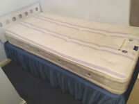 Single bed excellent mattress, bed base lots of storage