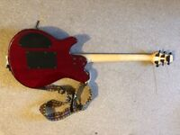 Vintage-branded guitar with floating bridge, in good shape