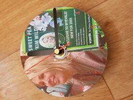KIM WILDE - QUARTZ CD CLOCK (NEW)