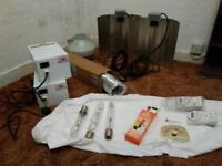 Indoor horticulture grow kit (fan, lamps, bulbs, power packs/ballasts) - £90 ONO