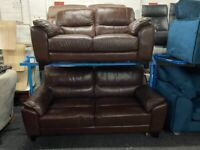 NEW - EX DISPLAY ScS SiSi ITALIA LEATHER 3 + 2 SEATER SOFAS SOFA, 70%Off RRP SALE