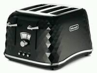 DeLonghi Brilliante 4-slice toaster black