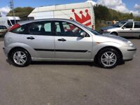 2003 FORD FOCUS 1.6 ZETEC 5 DR HATCHBACK LOW MILEAGE NEW M.O.T IMMACULATE