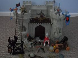 Kids play castle with knights