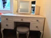 Dressing table, mirror & stool - £80 ONO - NEED GONE ASAP - CAN DELIVER!!