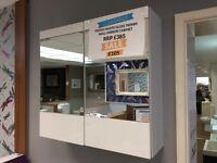 fresso gloss white mirror wall cabinet