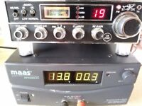 Stalker st9fdx radio and mass 60 amp power supply both vgc and work 100% can be seen working