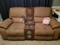 Reclining iPod/Bluetooth Stereo 2 seater sofa. Quick sale - open to offers