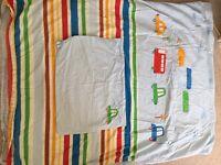 Mothercare cot bed duvet set 100% cotton
