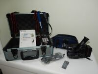 SONY hand held 8mm video camera and accessories