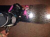 Women's 146 cm Nitro Lectra Snowboard (semi flexible )