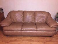 italian tan leather sofa set