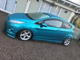 Ford Fiesta ZETEC 58 Plate - Wrapped Blue Turquoise
