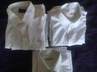 White men work/school shirts