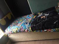 Single divan and batman headboard