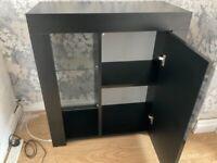 Black high gloss cabinet