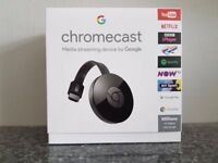 Google Chromecast 2, LIKE NEW IN BOX