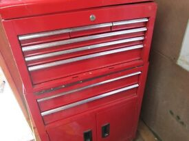 NINE DRAW MOBIL TOOL CHEST AND BOX