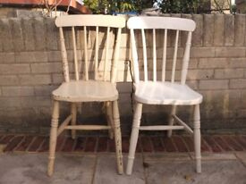 Victorian antique pine farmhouse chairs