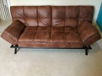Sofa Bed faux leather £100 excellent condition