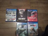 4ps4 games forsale