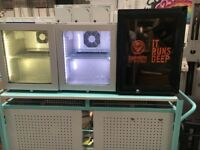 3 Beer Cooler Illuminated Display fridges 2 x Red Bull & 1 Jagermeister Mini Beer Cooler