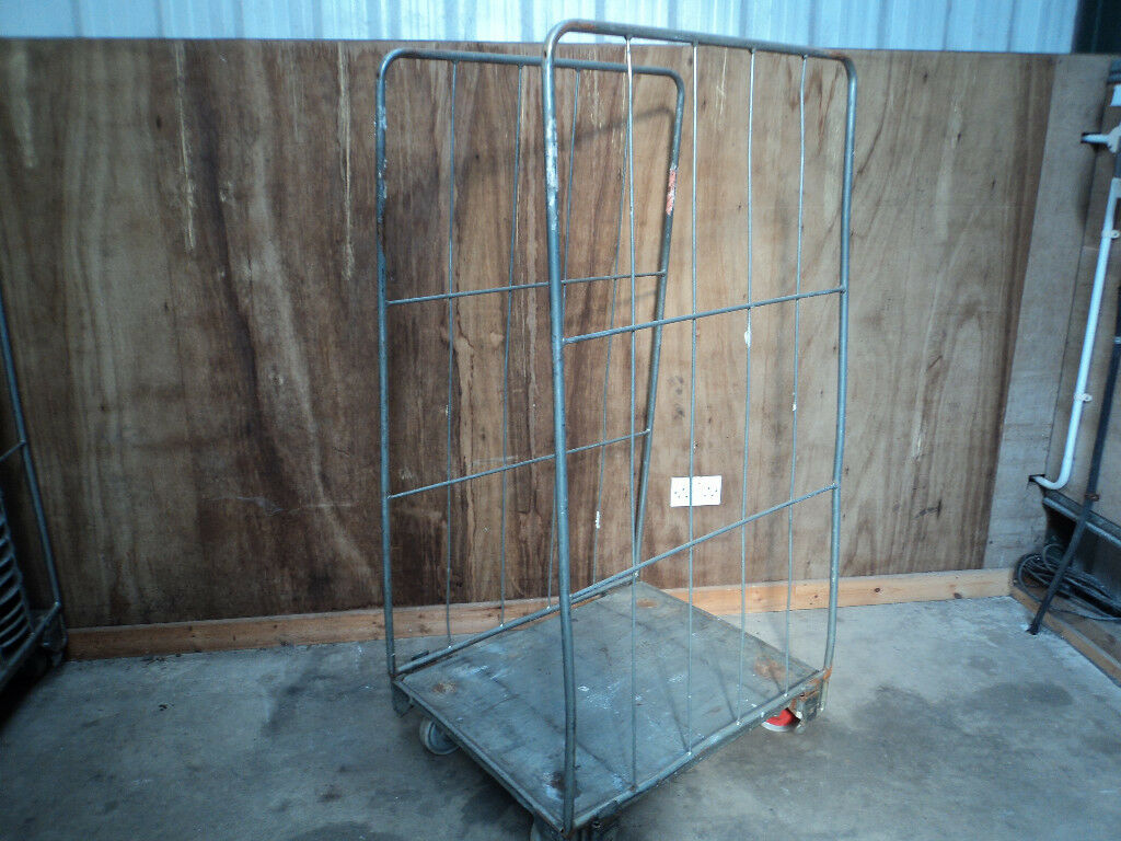 Warehouse ROLL CAGES wheeled trolley with Castor Board USED | in Ballymena,  County Antrim | Gumtree