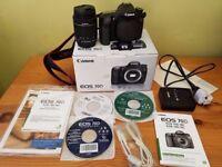 Canon EOS 70D 20.2MP Digital SLR Camera - Black (Kit w/ EF-S 18-55mm IS STM