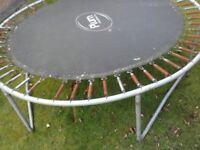 Steel trampoline frame