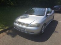 Vauxhall Astra coupe convertible 2003 1.6 petrol silver l/mot service records px clearance vehicle