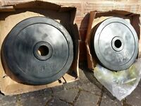 2 x 15KG OLYMPIC BUMPER WEIGHT PLATES