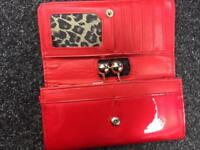 Red patent purse