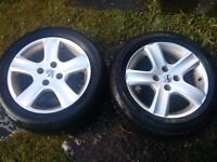 3 Peugeot 307 16 INCH ALLOYS for sale