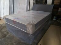 SMALL DOUBLE DIVAN BED MATTRESS BASE AND FREE HEADBOARD 159.oo