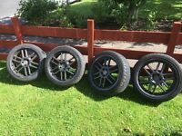 18 inch tsw alloys and tyres pcd 5x100 vw Toyota etc