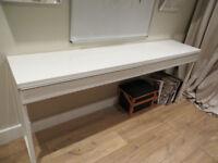 Ikea White Gloss Besta Burs desk console table 180cm discontinued