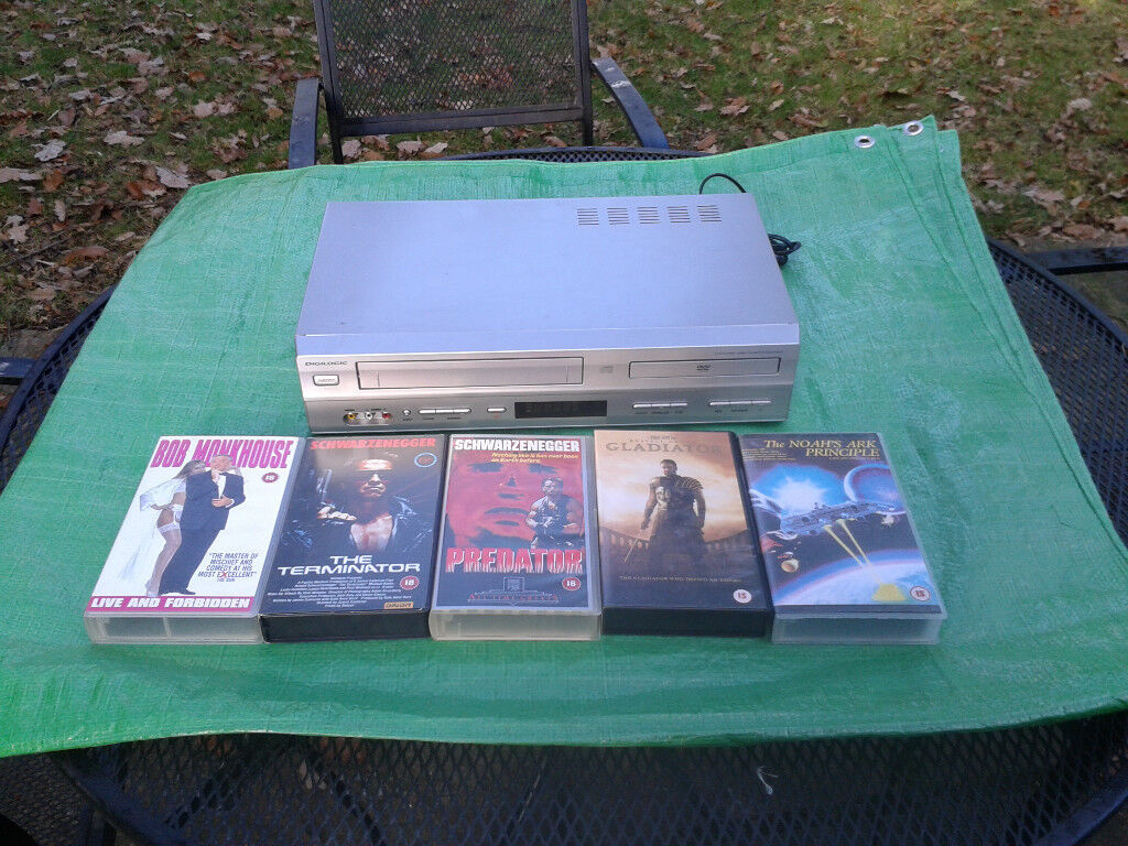 Digilogic DVDVCR2 DVD Player and VCR, VHS Video Player Combination ...