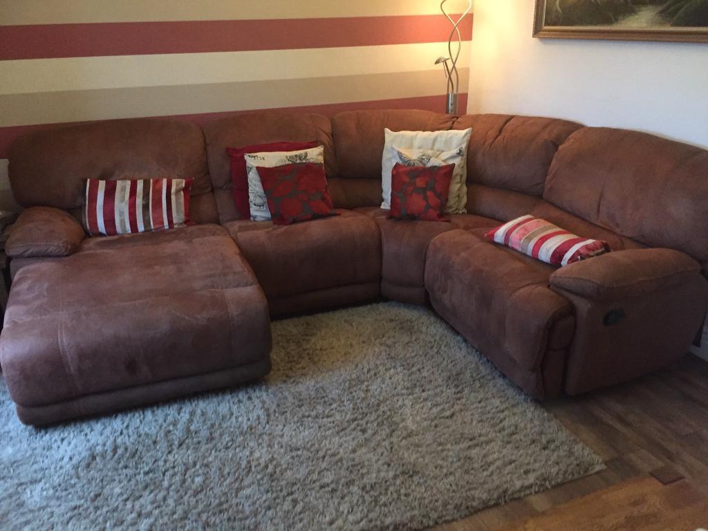 Excellent Harveys Senator Corner Sofa In Brushed Suede Reduced In Shildon County Durham Gumtree Creativecarmelina Interior Chair Design Creativecarmelinacom