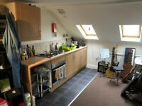 Top Floor Studio Apartment with Private Stair Case - Near Boscombe Beach
