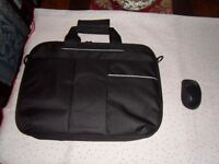 laptop bag and mouse