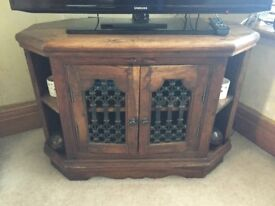 Barker and stonehouse Solid dark wood tv cabinet
