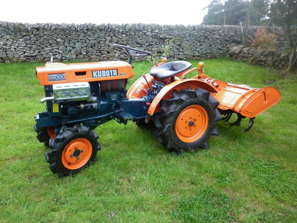 Small Tractor Top Link : Kubota b wd compact tractor and rotavator in buxton